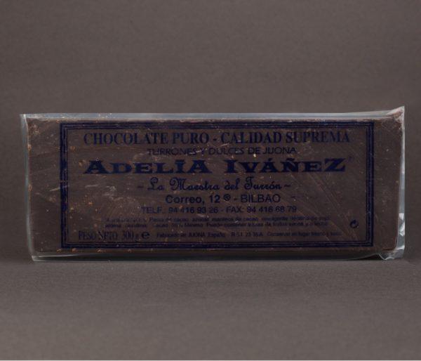 BARRA DE CHOCOLATE PURO 300gr