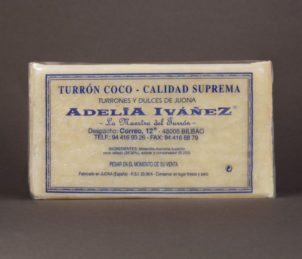 TURRÓN DE COCO 620gr