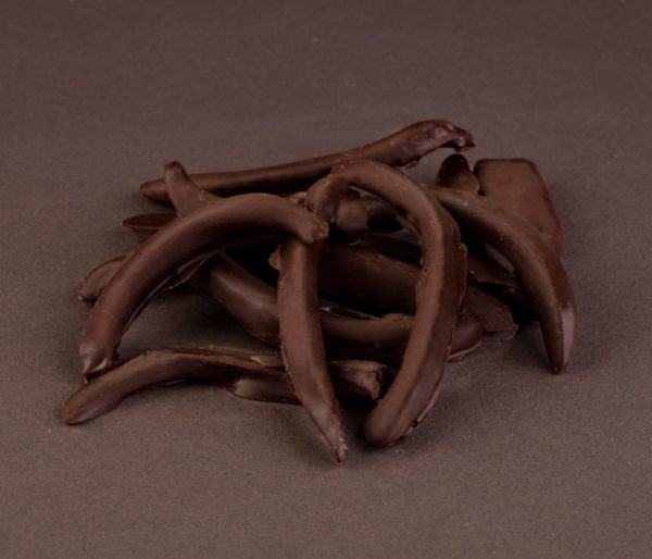 TIRAS DE NARANJA CON CHOCOLATE PURO 150GR